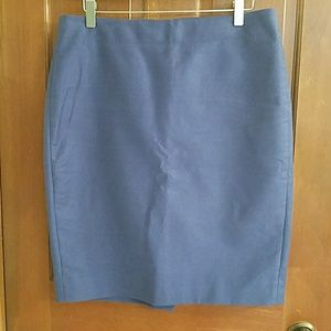 J. Crew pencil skirt, medium blue, EUC